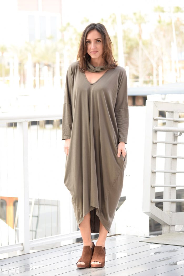 Chelsea Dress with Scarf - Saga Clothing