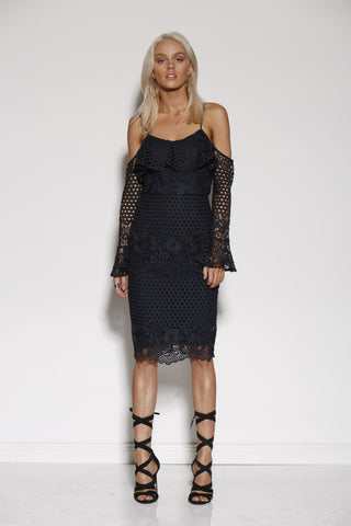 MINISTRY OF STYLE MOMENTUM MIDI DRESS
