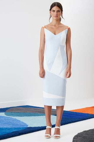 BY JOHNNY SKY LIGHT ANGLE SHIFT DRESS