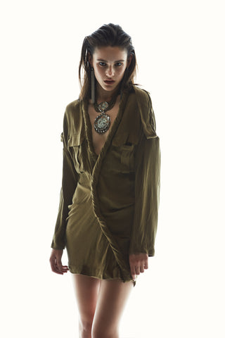 ASILIO TANGLED IN TRENCHES DRESS