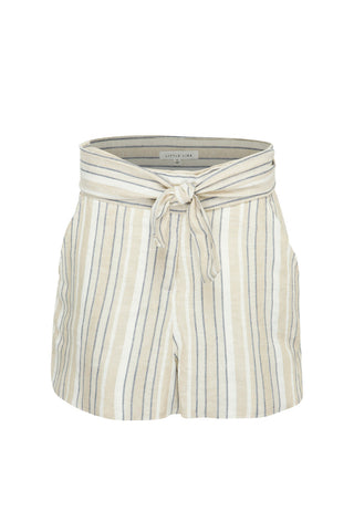 LITTLE LIES STRIPE LINEN SHORTS