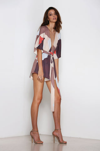 PREMONITION MOSAIC PLAYSUIT