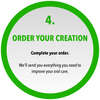 Order your creation, Complete your order. We'll send you everything you need to improve your oral care.