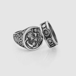 St. Christopher x Band Set (Silver)