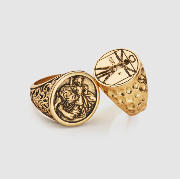 Signet Ring Set (Gold)
