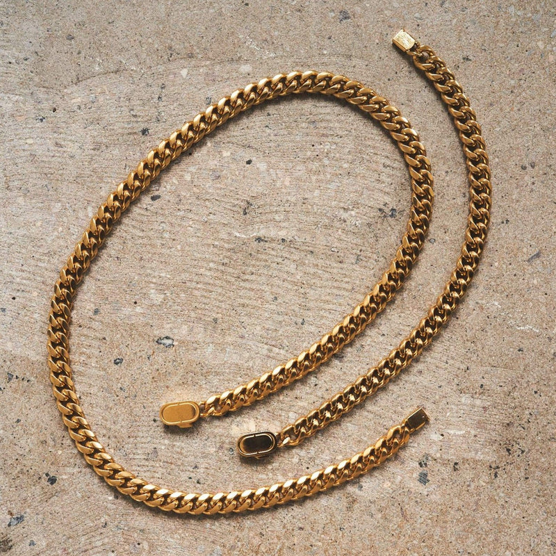 Cuban 8mm Set (Gold)