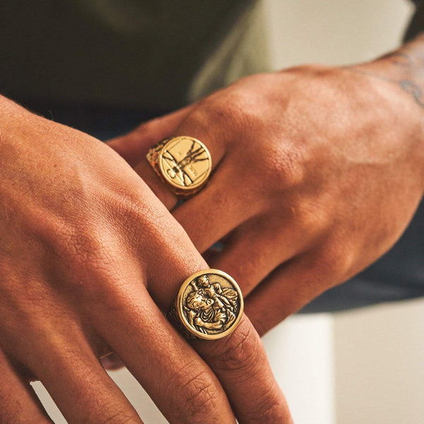 Christopher x Vitruvian Ring Set (Gold)