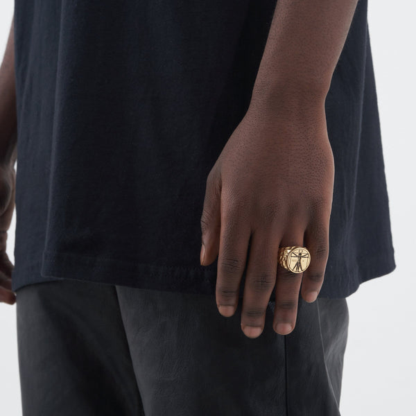 Vitruvian Ring (Gold)