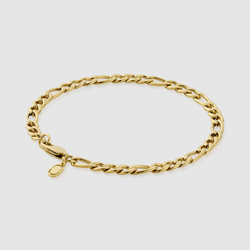 Figaro Bracelet (Gold) 5mm