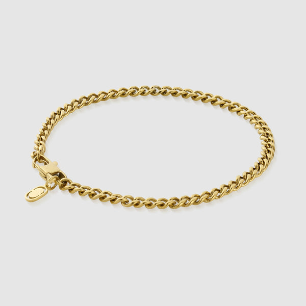 Cuban Bracelet (Gold) 4mm