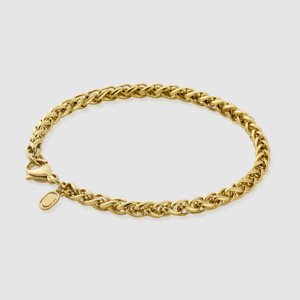 Wheat Bracelet (Gold) 5mm