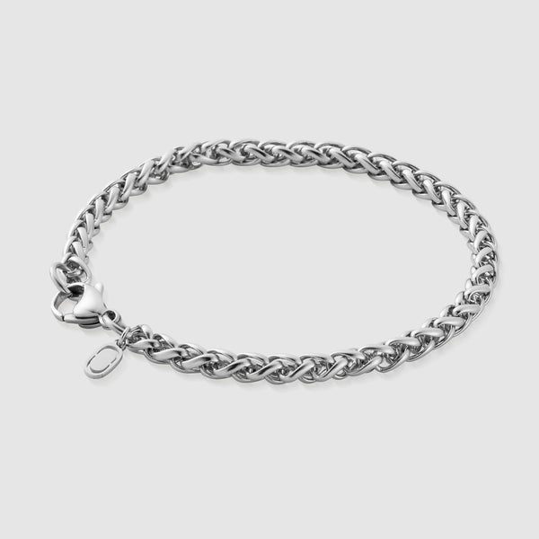 Wheat Bracelet (Silver) 5mm