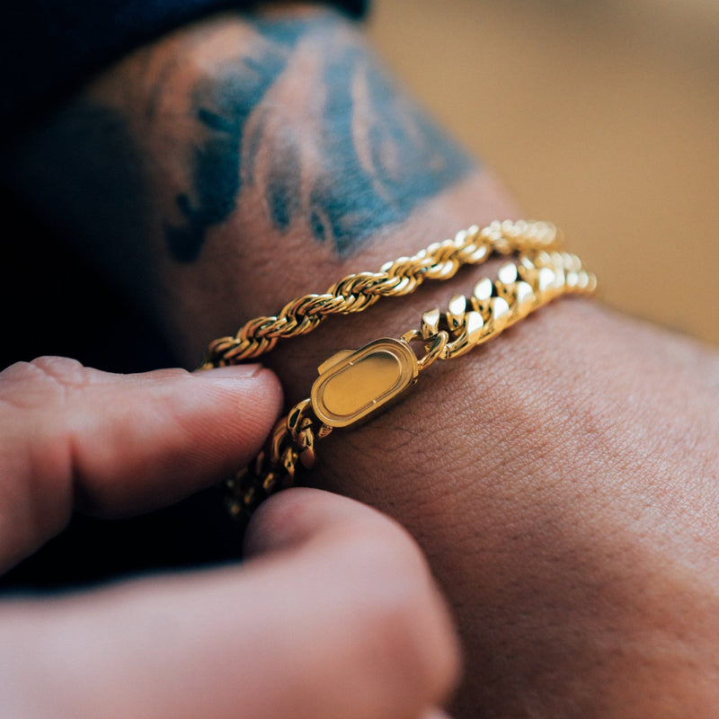 Cuban Bracelet (Gold) 8mm