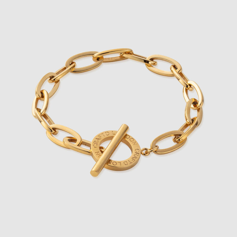 Toggle Belcher Bracelet (Gold)