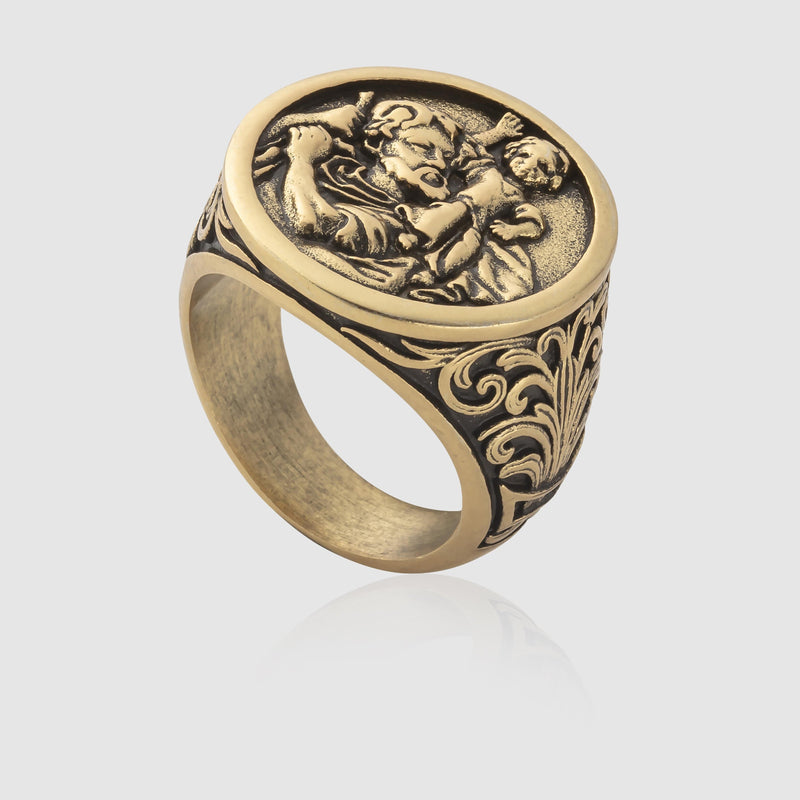St. Christopher Ring (Gold)