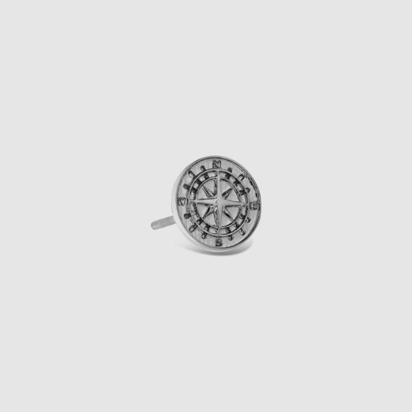 Compass Earring (Silver)