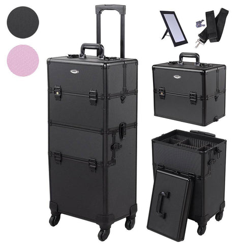 The Original 2 in 1 Rolling Makeup Case on Wheels(4) Cosmetic Case