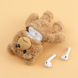 Cartoon Teddy Bear Soft Wireless Charging Cute Airpod Case Cover