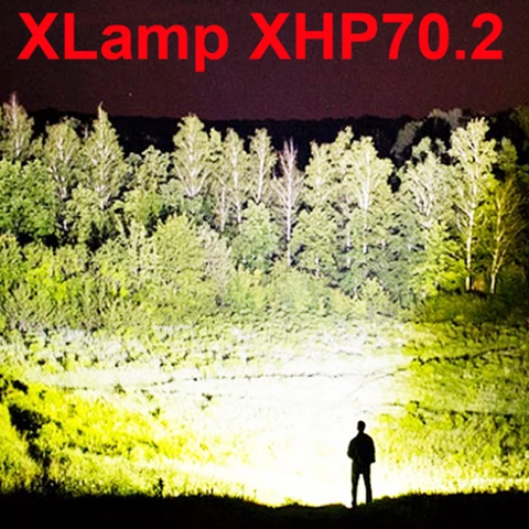PowerFlash™ 90000 LUMENS XHP70.2 Most Powerful Flashlight USB Zoom Led Torch
