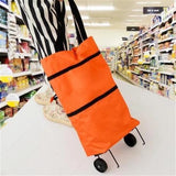 Convenient Shopping Bag with Foldable Wheels