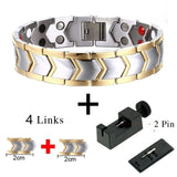 Stylish Bio-Energy Magnetic Therapy Bracelet for Men (TBRM030E)