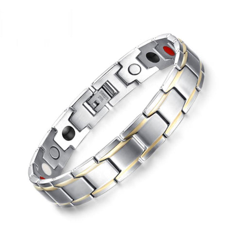 Stylish Bio-Energy Magnetic Therapy Bracelet G4 Series For Men (SBRM004)