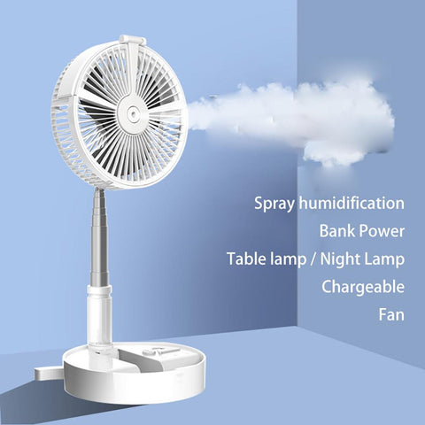 USB Eletric Fan Humidifying Hydration Water Spray Folding Retractable Fan