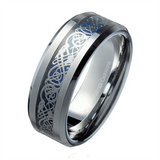 Silver Tungsten Celtic Ring