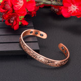 Pure Copper Bangle Flower Classic For Women