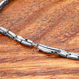 [BEST DEAL] Magnetic Jewelry Set - Fashionable Shiny Silver Magnetic Necklace and Bracelet