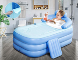 Portable Stand Alone Bathtub Foldable Spa With Foot Pump
