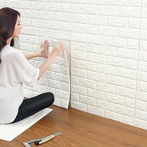 3D Texture Removable Brick Wallpaper