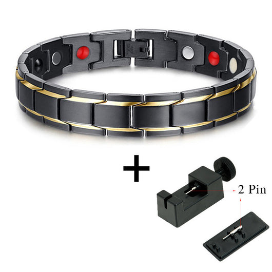 Stylish Bio-Energy Magnetic Therapy Bracelet G4 Series For Men (SBRM009E)