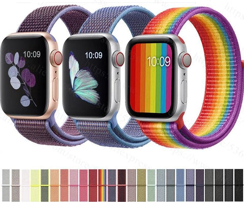 Nylon Sport Loop Strap For Apple Watch Band