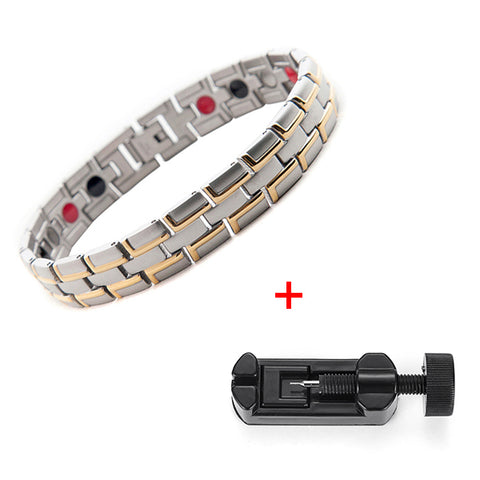 Stylish Bio-Energy Magnetic Therapy Bracelet G4 Series For Men&Women (SBRM014S)
