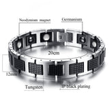 Stylish Tungsten Bio-Energy Magnetic Therapy Bracelet G3 Series For Men (SBRM819F)