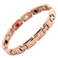 Rose Gold Fashionable Magnetic Therapy Bracelet For Women (SBRM052)