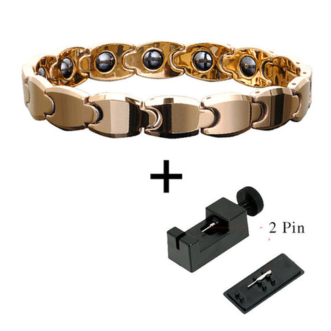 Fashionable Tungsten Bio-Energy Magnetic Therapy Bracelet For Women (SBRM910)