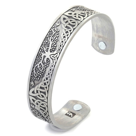 Pure Magnetic Bangle Tree Of Life Antique Design
