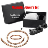 [BEST DEAL] Magnetic Jewelry Set - Fashionable Rose Gold Magnetic Necklace and Bracelet