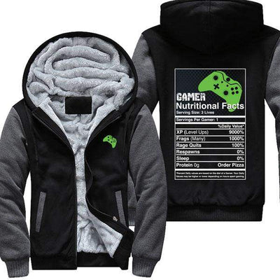 Gamer Nutritional Facts - XB Jacket