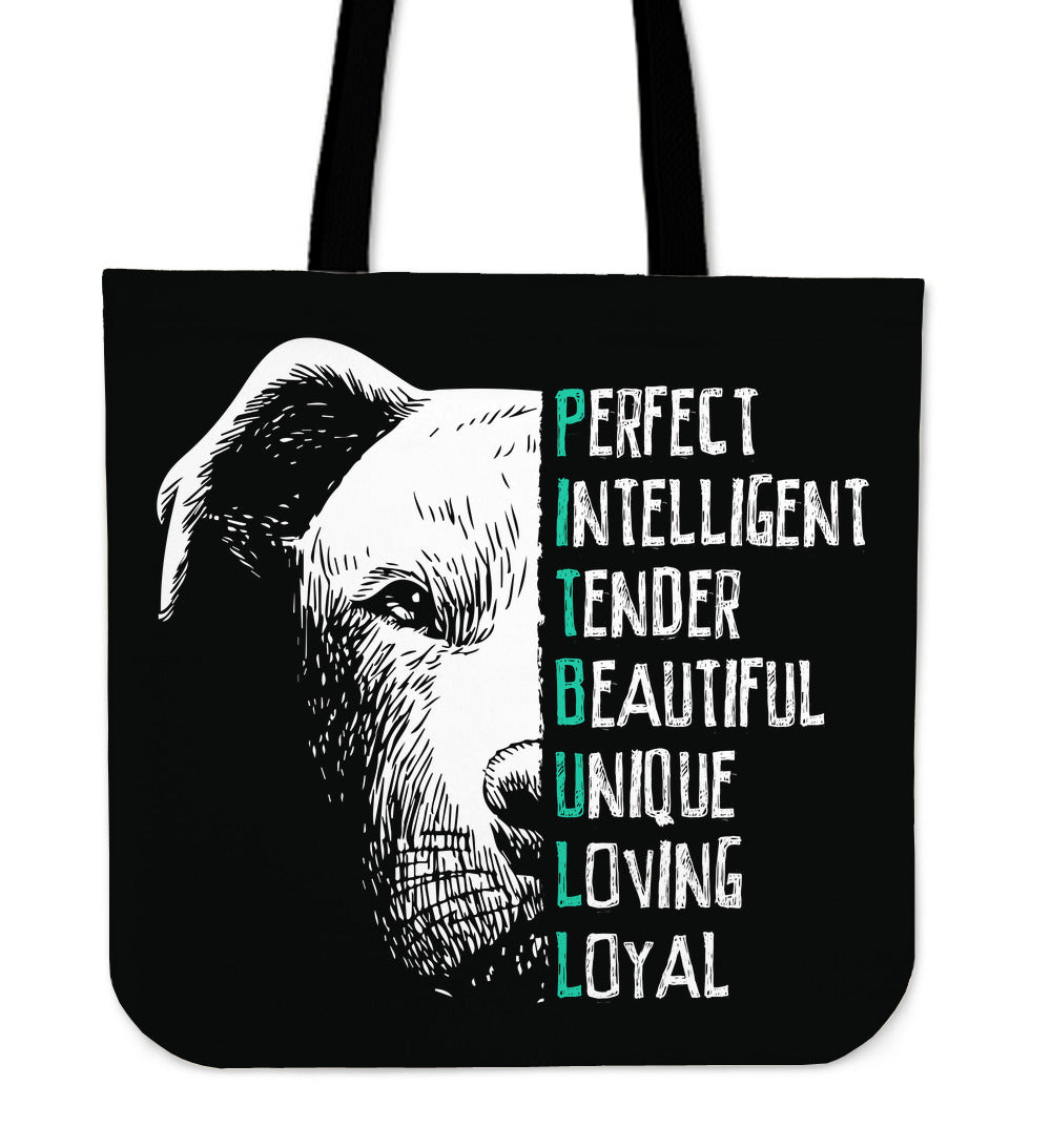 Perfect Pit Bull Tote Bag