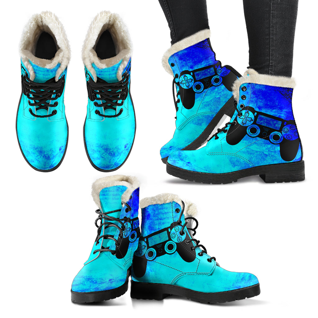 Grunge PS Womens Faux Fur Leather Boots - gaming bestseller