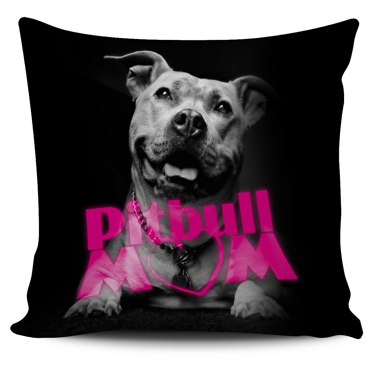 Pit Bull Mom Pillow Cover