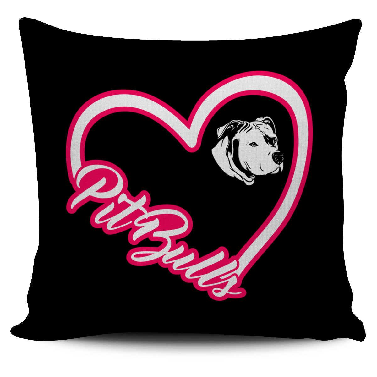 Pit Bull Heart Pillow Cover