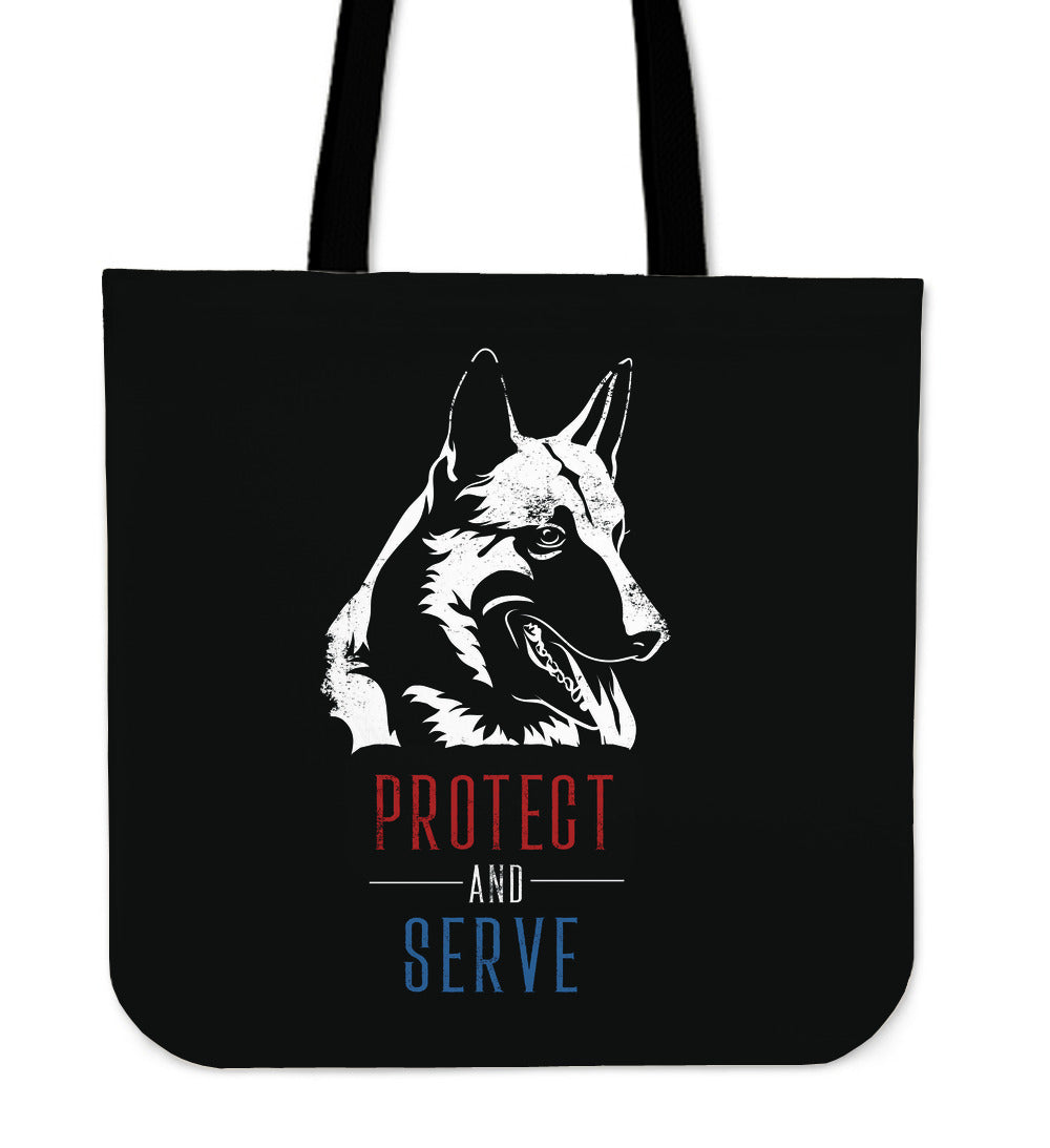 German Shepherd Protect and Serve - Tote Bag
