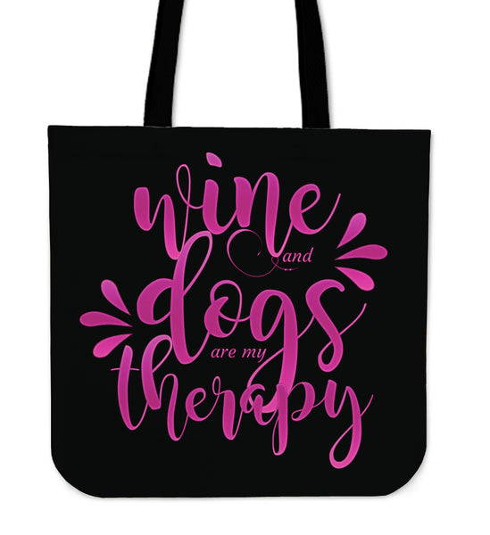 Wine and Dogs Tote bag