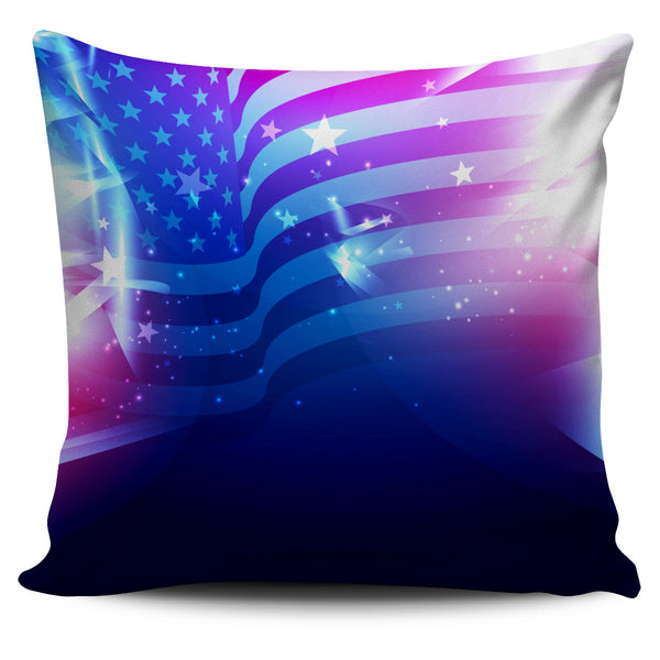 Abstract USA Pillow Cover