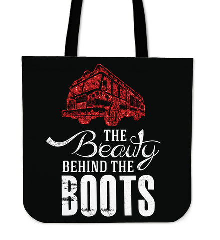 Beauty Behind The Boots Tote Bag