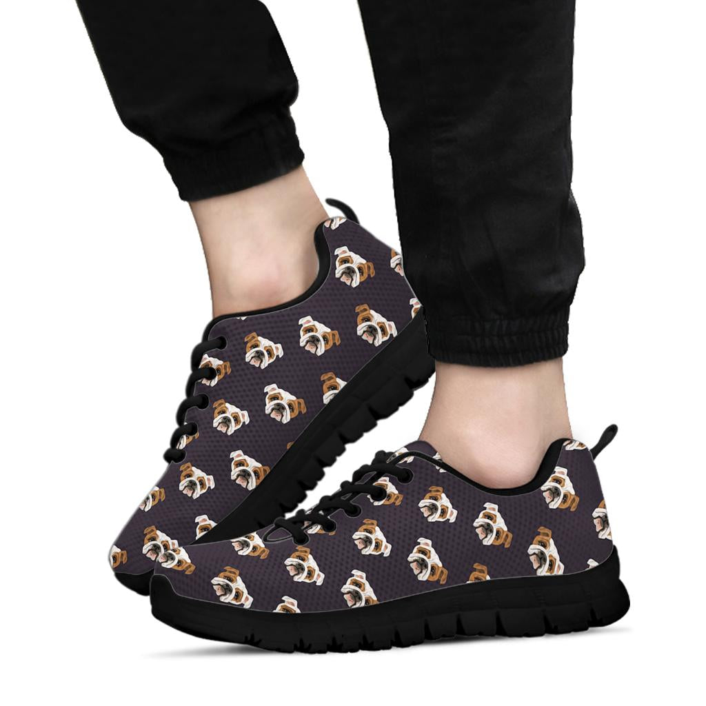 Bulldog Face Sneakers Black Soles
